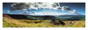 an image of Mynydd Troed overlooking Llangorse in th Brecon Beacons