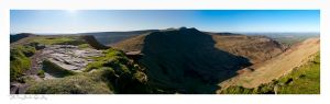 Brecon Beacons, Pen y Fan, Cordn Ddu, Cribyn, Fan y Big, Diving Board